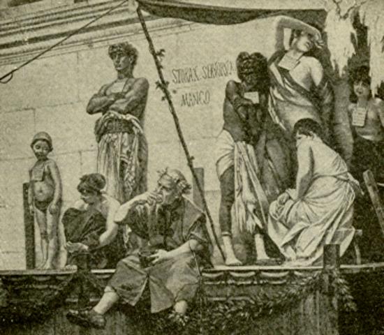 100 B.C Slaves make up 1/3 of Rome's population