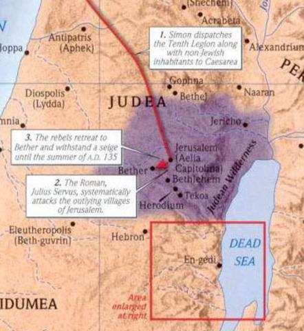 63 B.C Jews come under Roman control