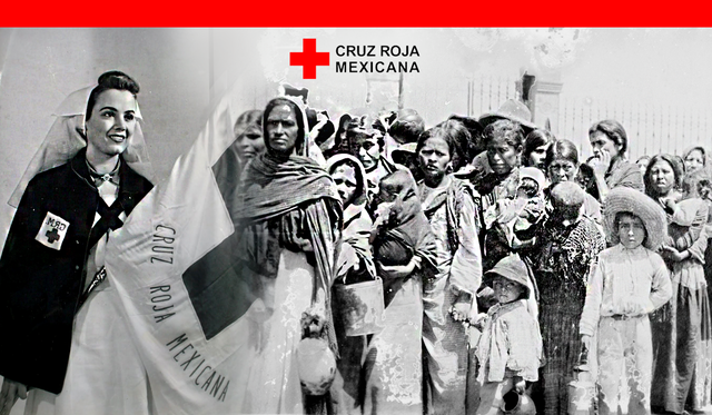 """Fundación oficial  """"Cruz Roja Mexicana"""" ( 17/02/ 1910 )"""