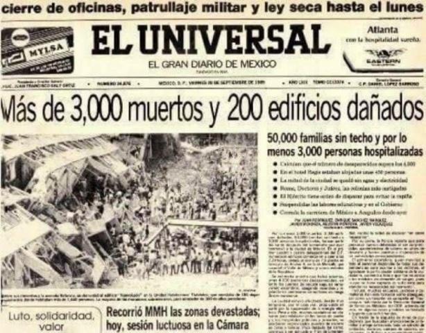 Sismo del 1985 destruye hospitales