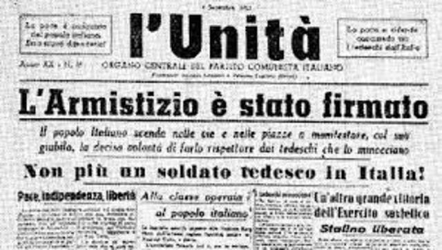 L'armistizio dell'8 settembre