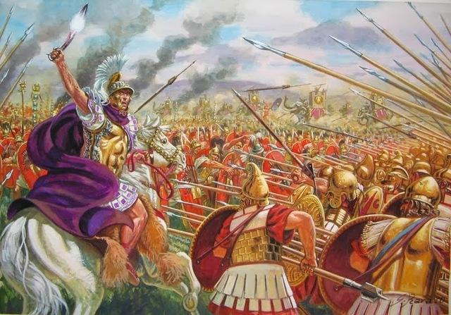 Roma conquista Grecia.