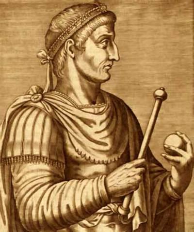 Constantino como emperador.