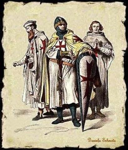 Fundación de la orden de los caballeros templarios.