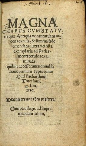 La Carta Magna es firmada.