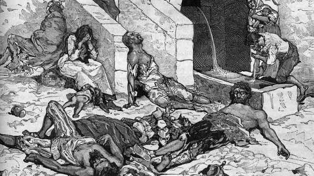 La peste negra ataca Europa.