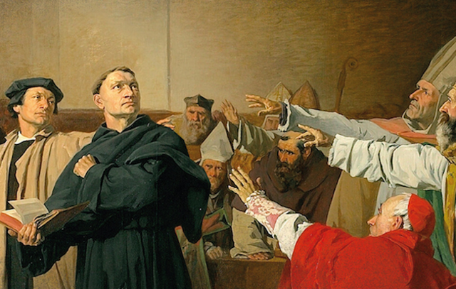 Inicio de la reforma protestante.