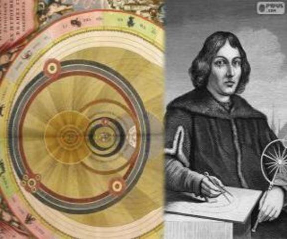 Nicolás Copérnico postula el modelo heliocéntrico del sistema solar.