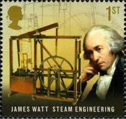 James Watt inventa la máquina de vapor.