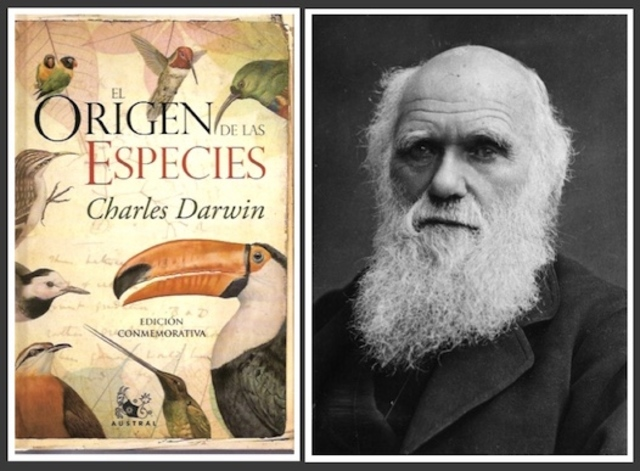 Darwin publica el origen de las especies.