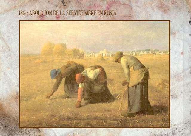 Abolición de la servidumbre Rusa.