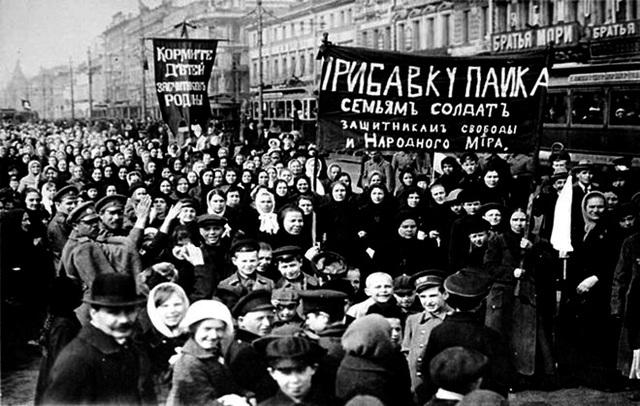 Comienza la revolución rusa.