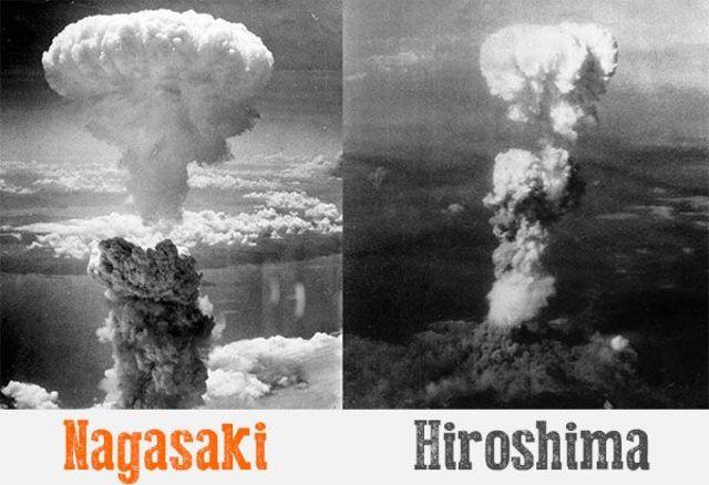 Se lanzan dos bombas atómicas en Japón: Hiroshima y Nagasak