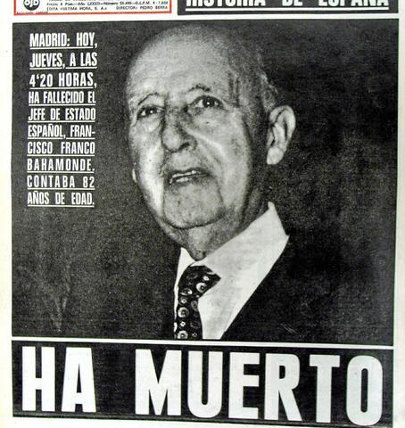 Muerte de Francisco Franco.