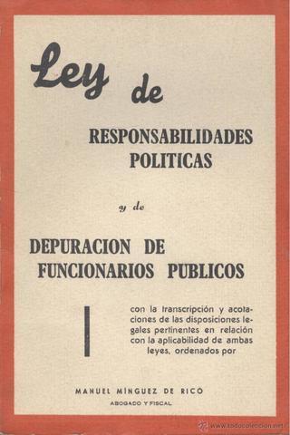Ley de responsabilidades políticas