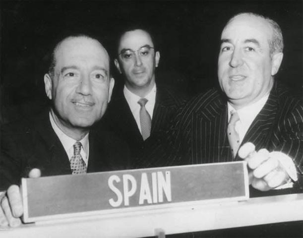 Entrada de España en la ONU.