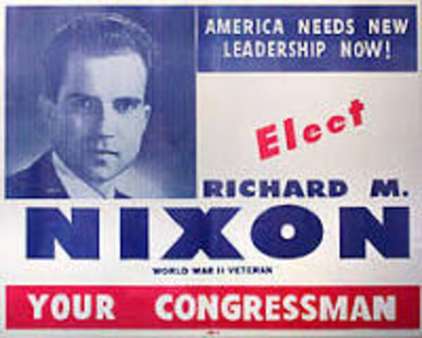 Nixon was elected to congress