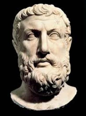 470 BCE - Muerte de Parménides