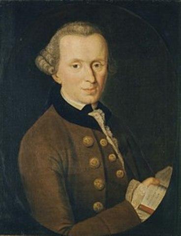 1724 (22 de abril ) BCE - Immanuel Kant