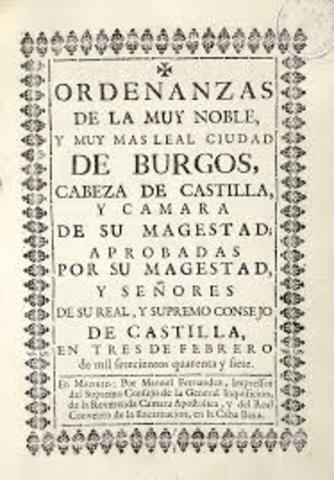 Ordenanzas de Burgos