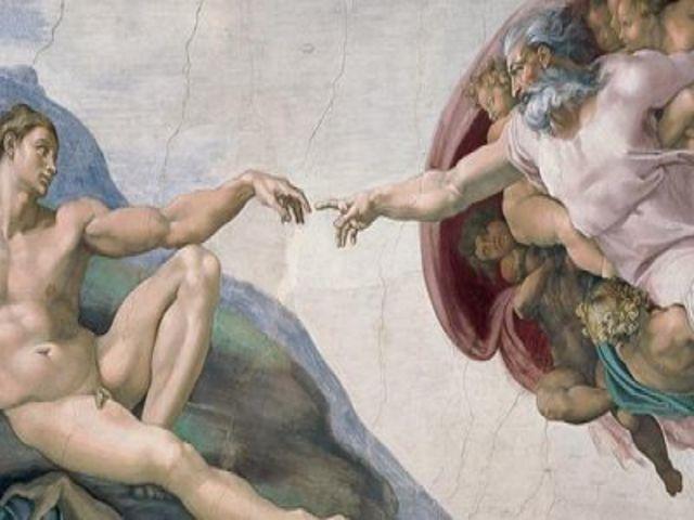 Miguel Angel pinta los frescos de la Capilla Sixtina