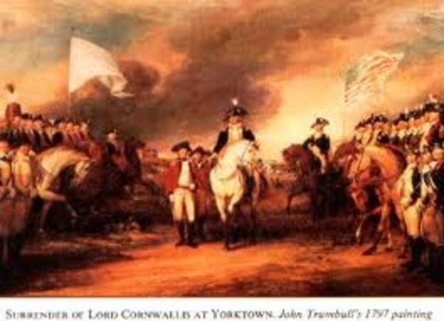 Bgining of the Battle of Yorktown