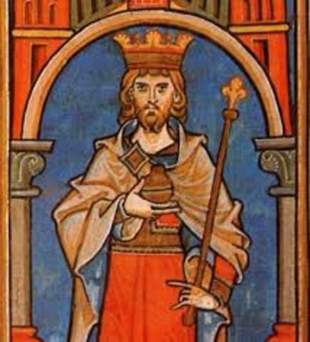 King Conrad III of Germany takes the Cross
