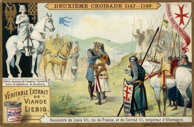 Armies of Conrad III and Louis VII set out for the Holy Land
