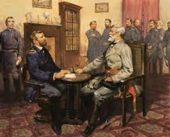 South Surrenders at Appomattox Couthouse