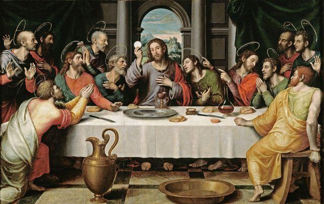 Juan de Juanes pinta la Santa Cena.
