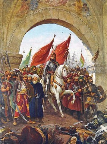 Turcs prenen Constantinoble