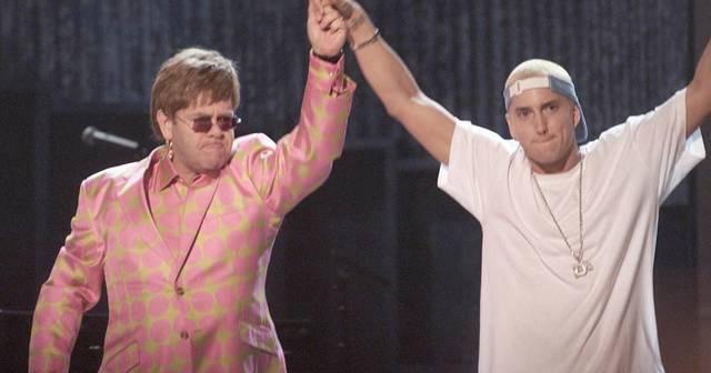 Performing with Elton John at Grammy