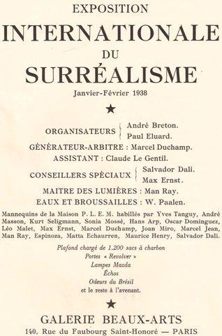 PARIS. EXPOSICION INTERNACIONAL SURREALISTA