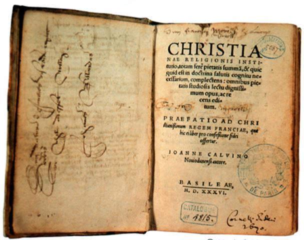 CALVINO. LIBRO INSTITUCION DE LA RELIGION CRISTIANA