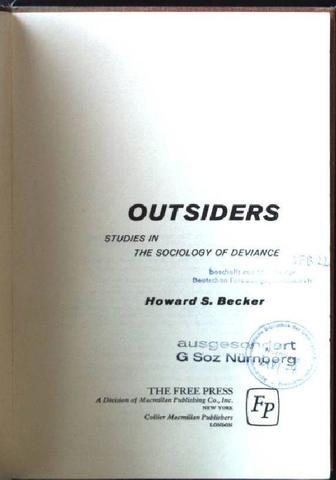 BECKER. OUTSIDERS