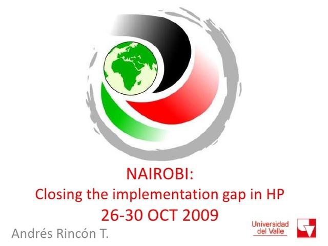LLAMADO A LA ACCIÓN DE NAIROBI