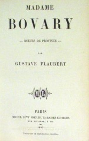 FLAUBERT. MADAME BOVARY