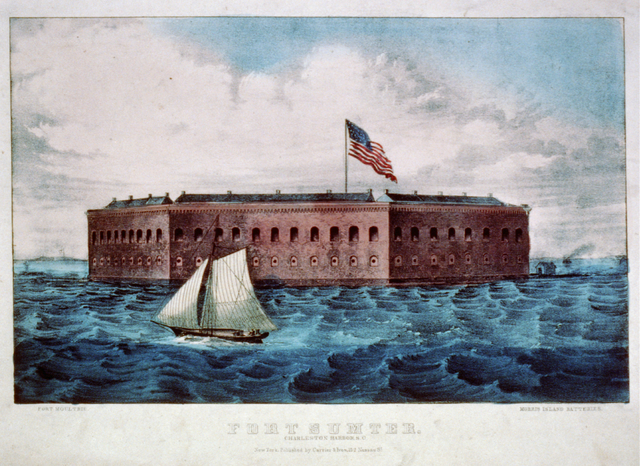 Anderson moves his troops to Ft.Sumter