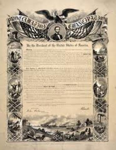 President Lincoln issues the Emancipation Proclamation