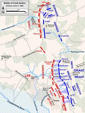 End of Battle of Cold Harbor