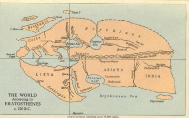 Mapa de la antigua Alejandría