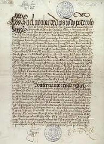 Assinatura do Tratado de Tordesilhas