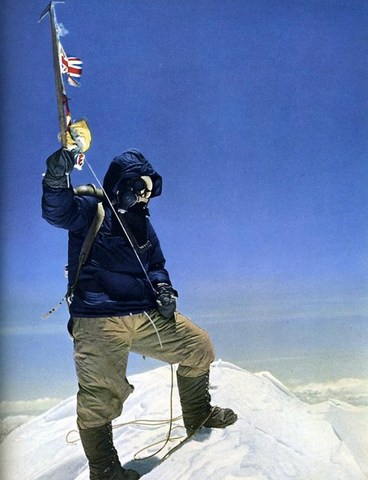 Hillary and Norgay Climb Mount Everest