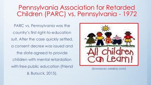 Pennsylvania Association for Retarded Children vs. Commonwealth of Pennsylvania