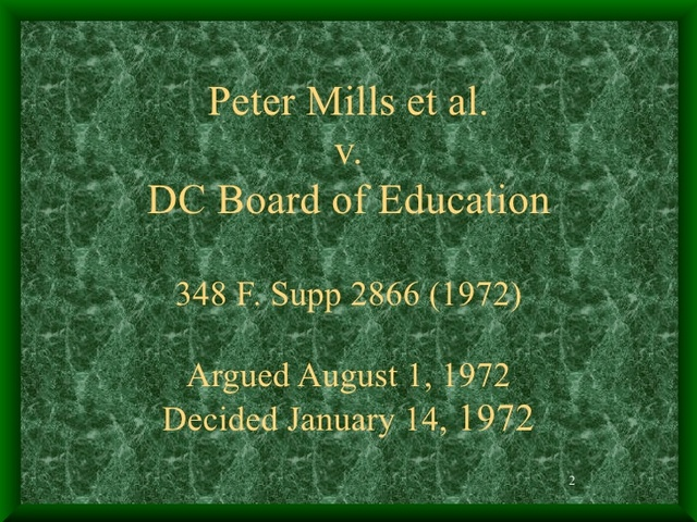 Mills v. District of Columbia Board of Education