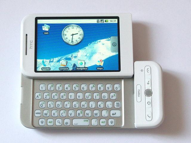 HTC Dream: El primer androide en el mundo.