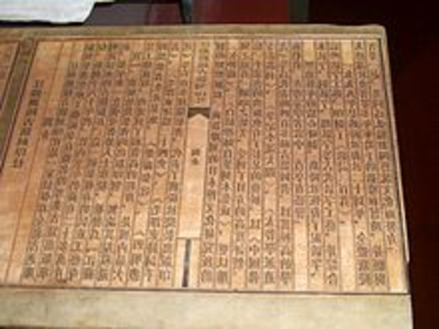 Printing Press using Wood Blocks