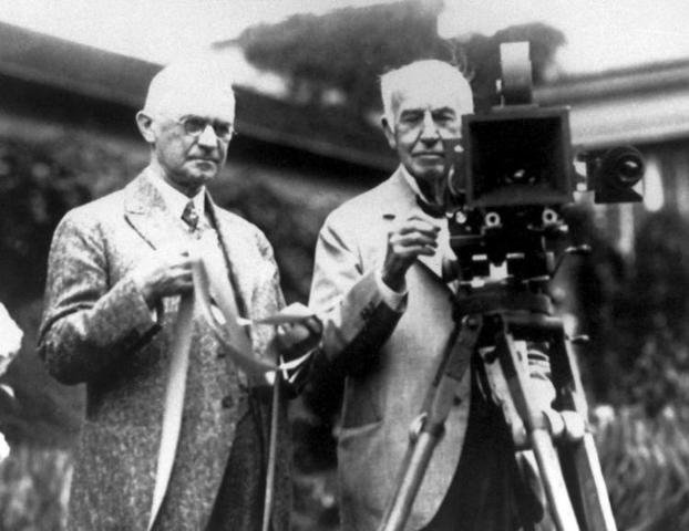 Thomas Edison demonstrated the first talking motion picture