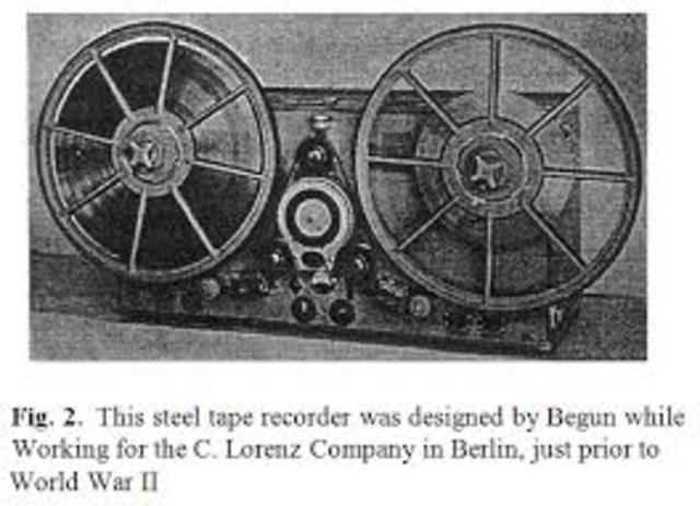 Tape Recorder for Broadcasting