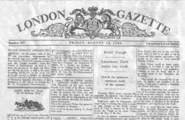 Newspaper- The London Gazette